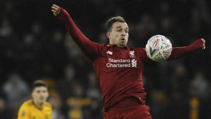 Gelandang Liverpool, Xherdan Shaqiri (AP/Rui Vieira)
