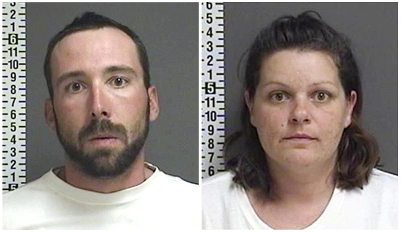 FILE - This combination of file photos provided by the Cass County Sheriff's Office in Fargo, N.D., shows William Hoehn, and his girlfriend Brooke Crews, the two people charged in connection with the murder of Savanna Greywind in North Dakota in August 2017. Republican U.S. Sen. Lisa Murkowski from Alaska is taking up the cause for a bill aimed at helping law enforcement with cases of murdered and missing indigenous women. Former North Dakota Democratic Sen. Heidi Heitkamp introduced and helped pass Savanna's Act in the Senate before she lost election, but it was blocked in the House by a retiring Republican.  (Cass County Sheriff's Office via AP, File)