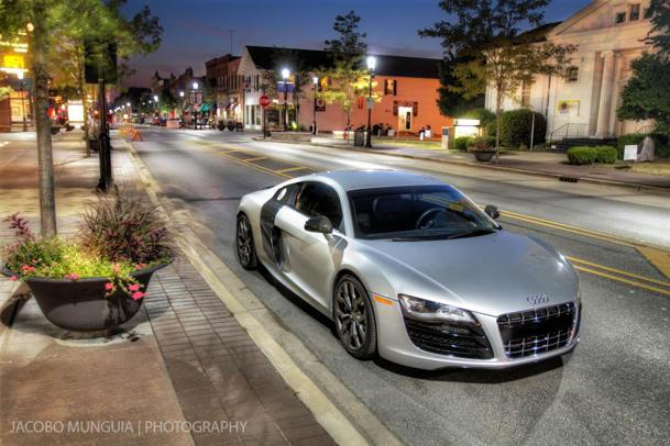An Audi R8 and a night on the town: Flickr photo of the day