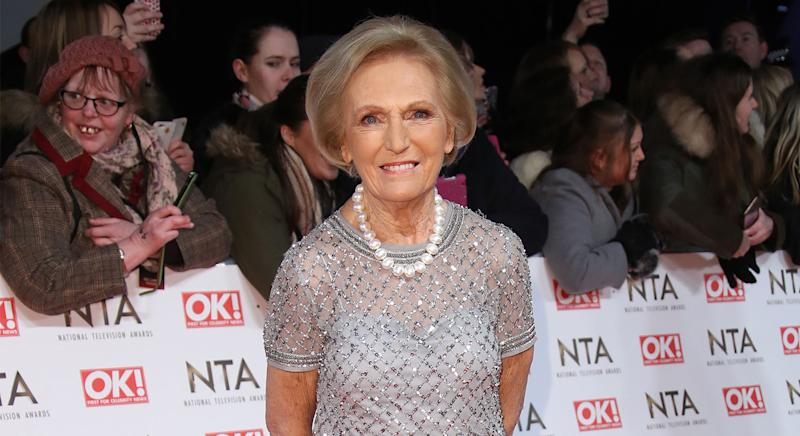 Mary Berry attended the NTAs in 2017 one year after her stint co-hosting The Great British Bake Off came to an end in 2016. But she has since gone on to have her own cooking shows and accompanying cookbooks. (Getty Images)