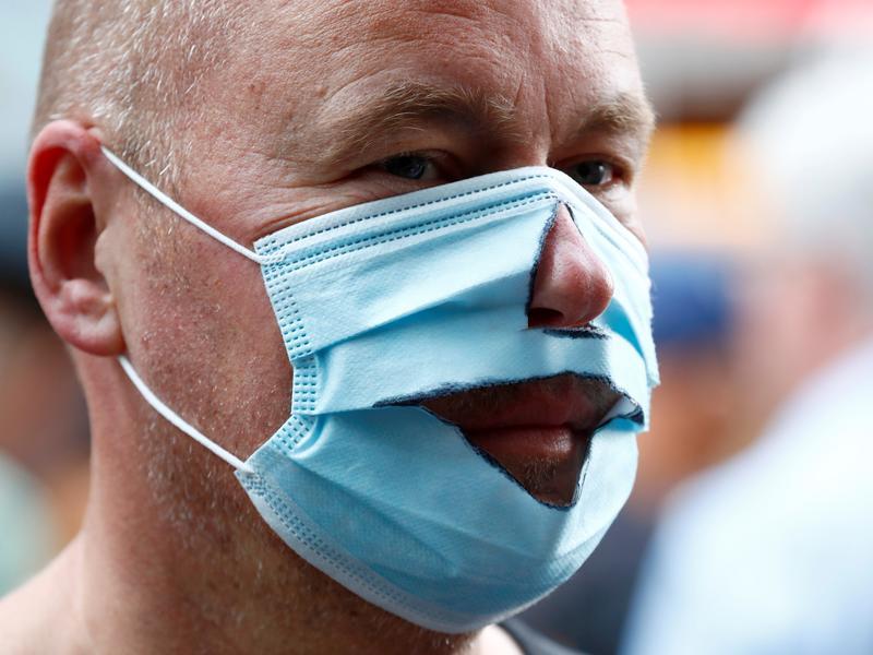 德國近4萬人上街 大規模抗議防疫管制