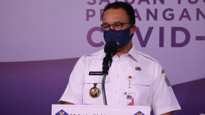 Rencana pembukaan bioskop, Gubernur DKI Jakarta Anies Baswedan tegaskan pelaku usaha bioskop harus patuhi protokol kesehatan saat konferensi pers di Graha BNPB, Jakarta, Rabu (26/8/2020). (Dok Tim Komunikasi Publik Satgas COVID-19)