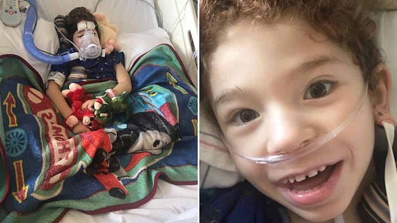 Noah is recovering in the ICU and plans are being made for Clayton to meet Noah. Source: Facebook / Go Fund Me.
