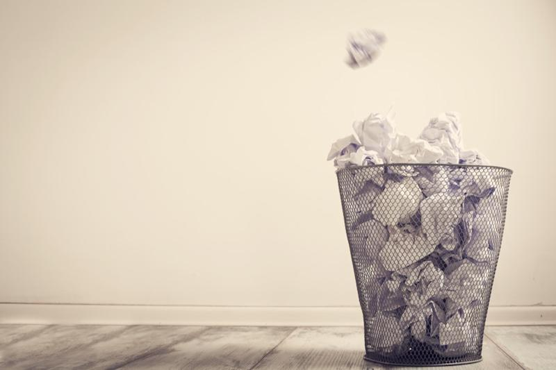 Waste basket, downsizing your home
