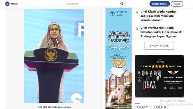 Gambar Tangkapan Layar Artikel dari Situs wolipo.detik.com