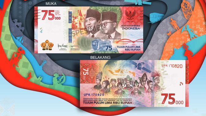Pemerintah dan Bank Indonesia meresmikan pengeluaran dan pengedaran Uang Peringatan Kemerdekaan 75 Tahun Republik Indonesia. (Dok BI)