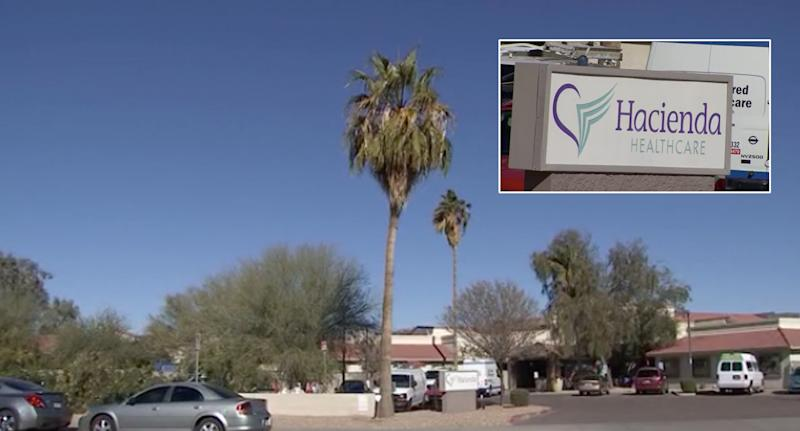 The woman has been in a vegetative state at the Hacienda Healthcare facility (pictured) for over a decade.