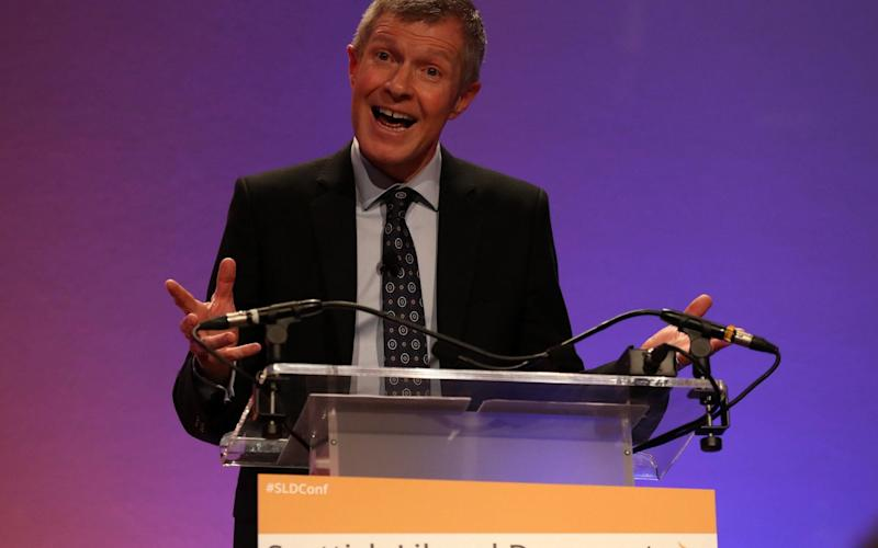 Willie Rennie delivered his speech to the virtual Lib Dem conference on Sunday -  Andrew Milligan/PA