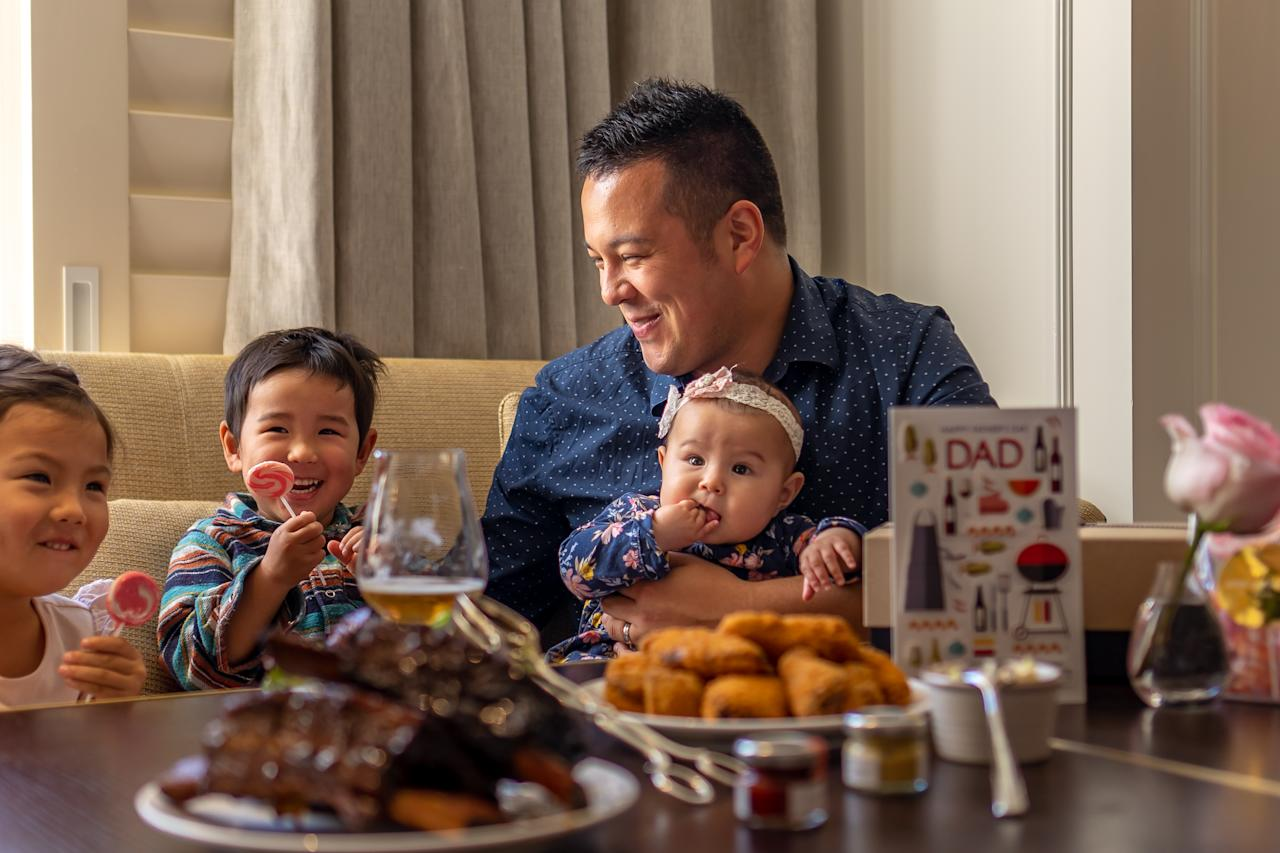 Got a dad in your life who loves to eat? Sydney's The Langham hotel has a new restaurant launching the first weekend of September and it may be reinforcing gender stereotypes to say this – but their buffet is totally geared for dads. The luxury buffet experience at Kitchens on Kent will see eight kitchens preparing crafting the menu, featuring meat-heavy treats at the BBQ station, including a 12-hour slow-cooked beef short ribs, deep-fried chicken wings with a blue cheese and celery sauce, parsley and mustard crusted sirloin, an array of sausages, pork ribs and an epic seafood selection. Photo: Langham Sydney