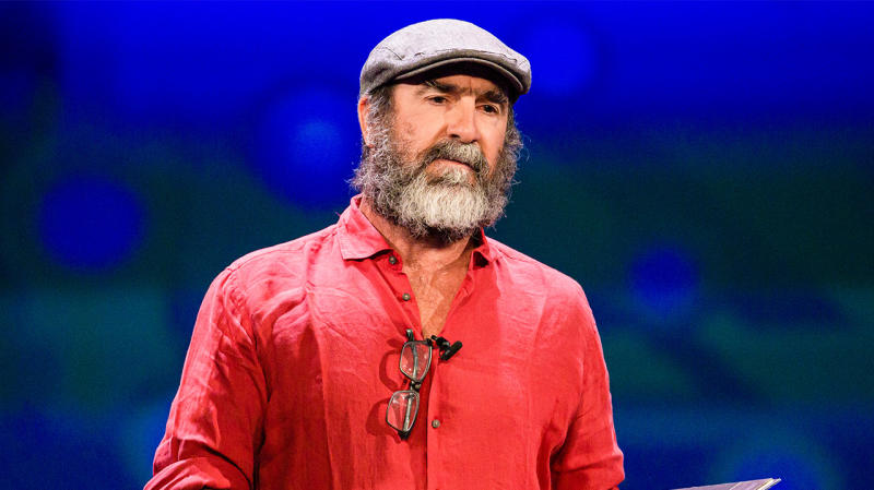 Eric Cantona delivered a cryptic speech at the Uefa Champions League draw ceremony. (Getty Images)