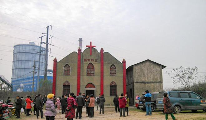 Authorities knocked down the church last year. Photo: Handout