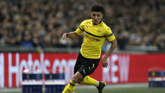 2. Jadon Sancho (Borussia Dortmund) - 72 Juta Pounds. (AFP/Adrian Dennis)