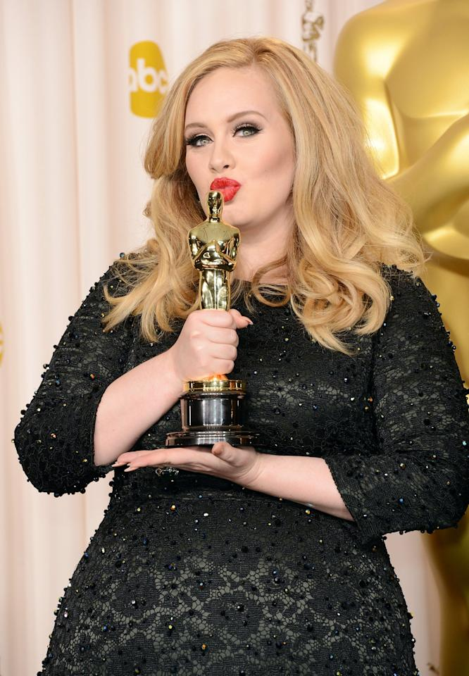 """<ul> <li> <strong>Has:</strong> An Oscar for """"Skyfall"""" and nine Grammys for """"Rolling in the Deep,"""" """"Someone Like You,"""" """"Set Fire to the Rain,"""" and <strong>25</strong> </li> <li> <strong>Needs:</strong> An Emmy and a Tony</li> </ul>"""