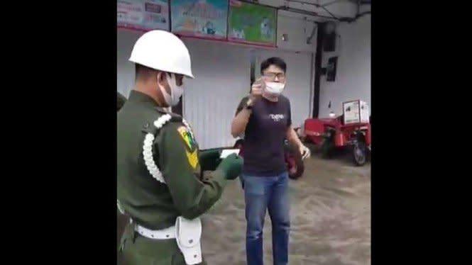 Aksi Luar Biasa Anggota PM TNI di Bogor Saat Dimaki Pelanggar PSBB