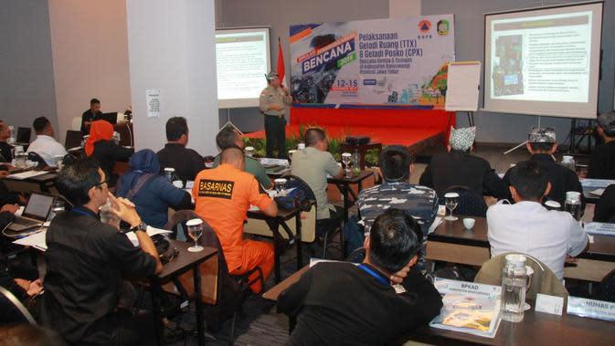 Tanggulangi Bencana Cepat dan Tepat BNPB Gelar Simulasi Penanggulangan Bencana di Banyuwangi