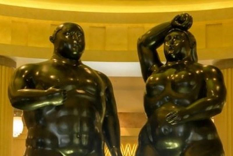 The bronze statues elicited blushes from one visitor who deemed them to be 'indecent' for a family resort. — Picture from Resorts World Sentosa blog