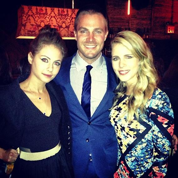 Willa Holland, Stephen Amell and Emily Bett