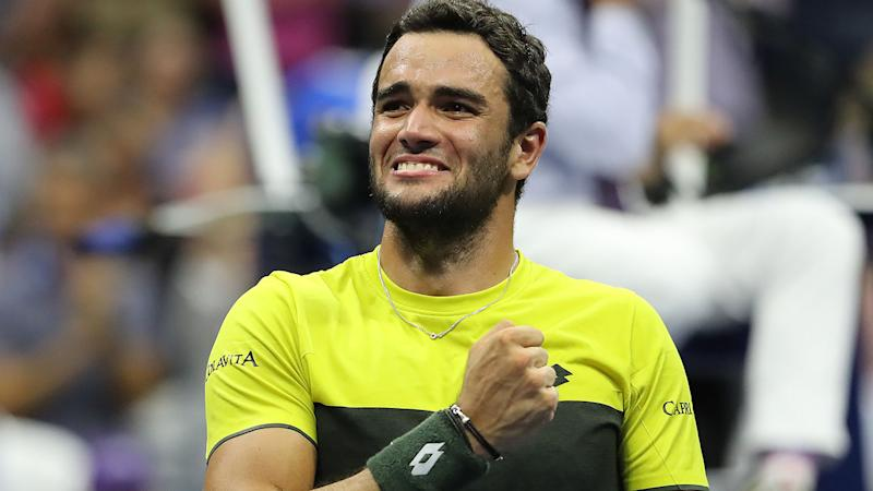 Matteo Berrettini, pictured here after his win at the US Open.