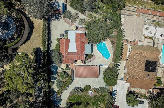 A bird's eye view of the LaBianca house up for sale.