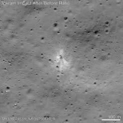 NASA temukan pendarat Bulan India berkat bantuan peminat amatir