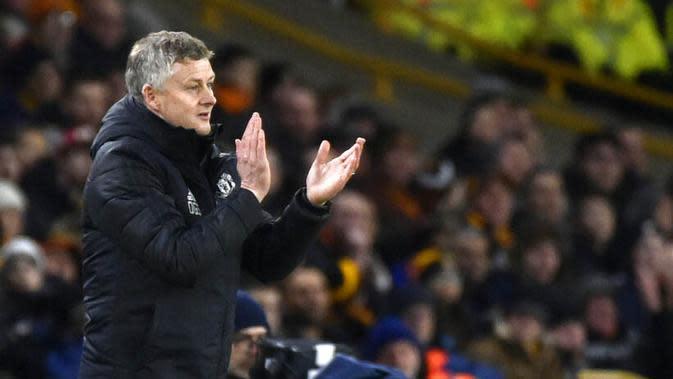 Pelatih Manchester United, Ole Gunnar Solskjaer. (AP/Rui Vieira)