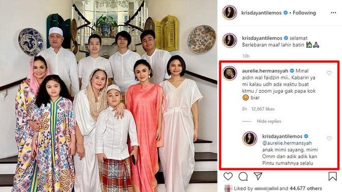 Komentar Aurel Hermansyah di Instagram Krisdayanti. (Instagram.com/krisdayantilemos)