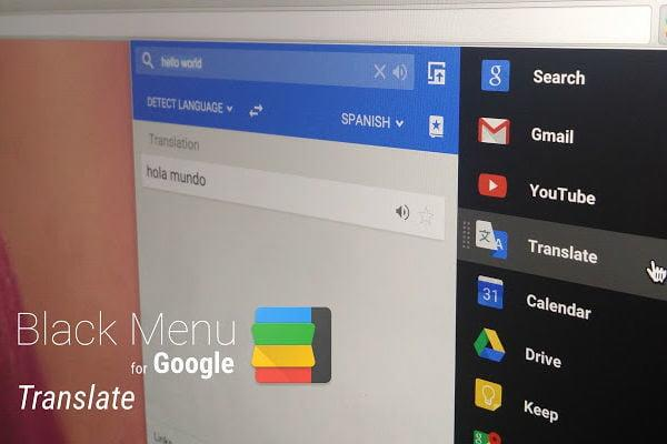 Best Chromebooks apps: Black Menu