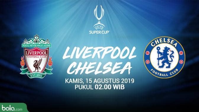 UEFA Super Cup - Liverpool Vs Chelsea Logo (Bola.com/Adreanus Titus/Faris Kholid)