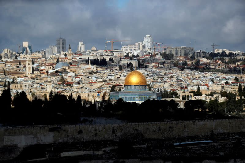 FILE PHOTO: A general view shows the Dome of the Rock in the compound known to Muslims as Noble Sanctuary and to Jews as Temple Mount in Jerusalem's Old City, after Israel tightened a national stay-at-home policy following the spread of coronavirus