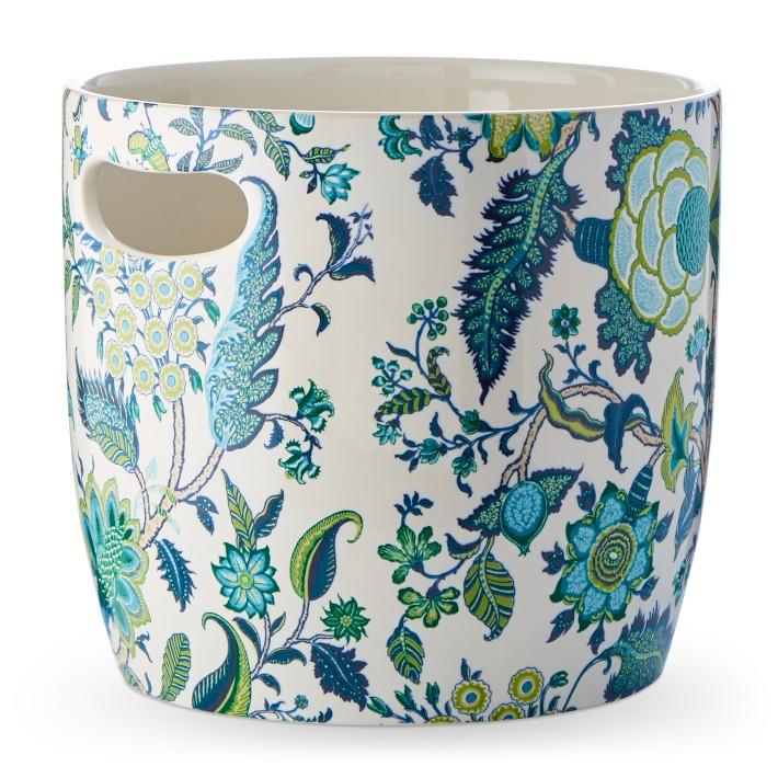 """<p><strong></strong></p><p>williams-sonoma.com</p><p><strong>$129.95</strong></p><p><a href=""""https://go.redirectingat.com?id=74968X1596630&url=https%3A%2F%2Fwww.williams-sonoma.com%2Fproducts%2Fschumacher-champagne-bucket-blue&sref=https%3A%2F%2Fwww.veranda.com%2Fluxury-lifestyle%2Fg32461317%2Fwilliams-sonoma-schumacher-collection%2F"""" target=""""_blank"""">Shop Now</a></p><p>There are several champagne buckets in this collection, but we adore the Arborvitae pattern for picnicking in style. Made in Portugal, this bucket makes for effortless entertaining with handles for carrying as much vino as your heart desires. Plus, it's dishwasher-safe. </p>"""
