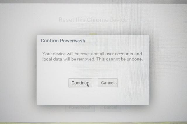chromebook confirm powerwash