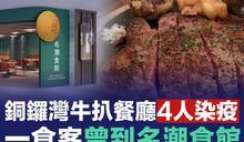【新冠肺炎】銅鑼灣牛扒餐廳4人染疫 一食客曾到名潮食館