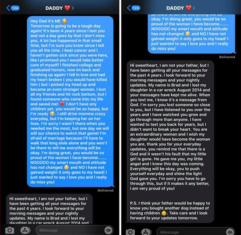 Young Woman Texts Deceased Dad's Cellphone... And Gets Response!