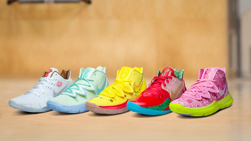 competitive price 13642 cb714 The Buzzy 'SpongeBob SquarePants' Nike Kyrie 5 Collab Gets a ...