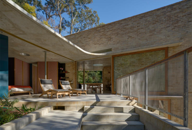 The judging panel described Cabbage Tree House, designed by Peter Stutchbury Architecture, as