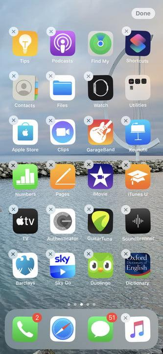 iPhone Edit Home Screen mode