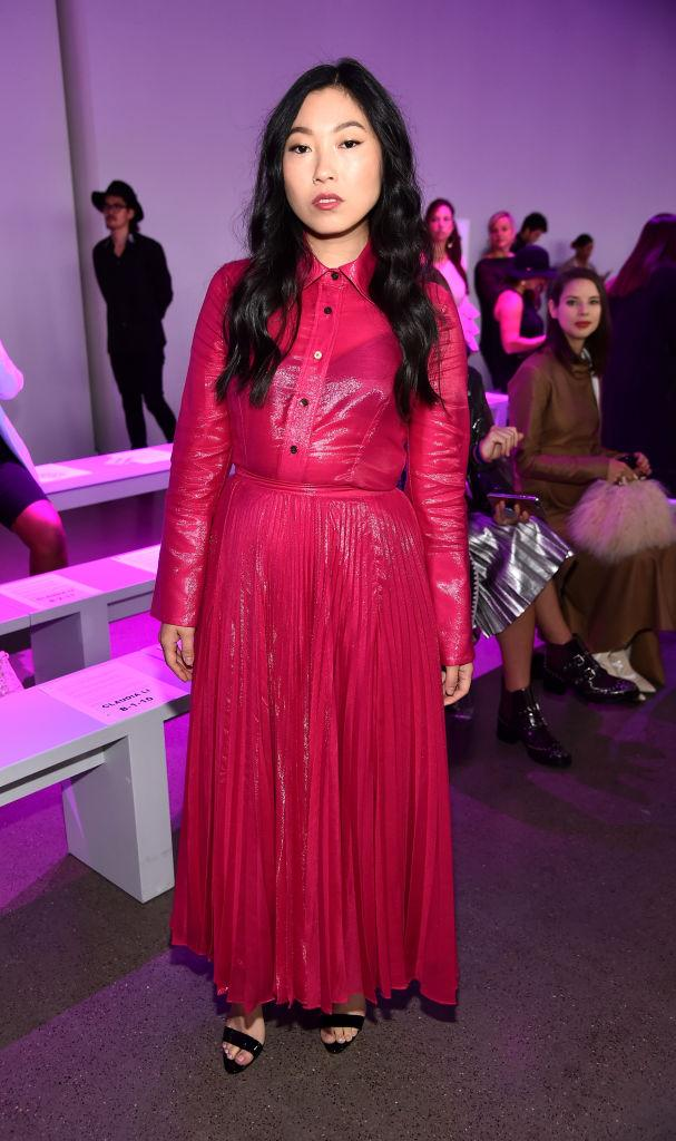 Awkwafina attends the Claudia Li Front Row during New York Fashion Week: The Shows at Gallery II at Spring Studios on September 9, 2018 in New York City. (Photo: Getty Images)