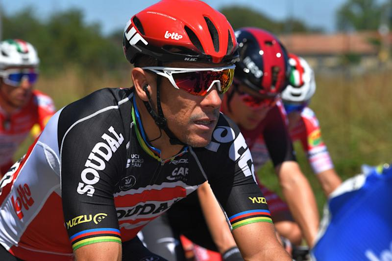 TURIN ITALY AUGUST 05 Philippe Gilbert of Belgium and Team Lotto Soudal during the 101st Milano Torino 2020 a 198km race from Mesero to Stupinigi Turin MilanoTorino on August 05 2020 in Stupinigi Turin Italy Photo by Tim de WaeleGetty Images