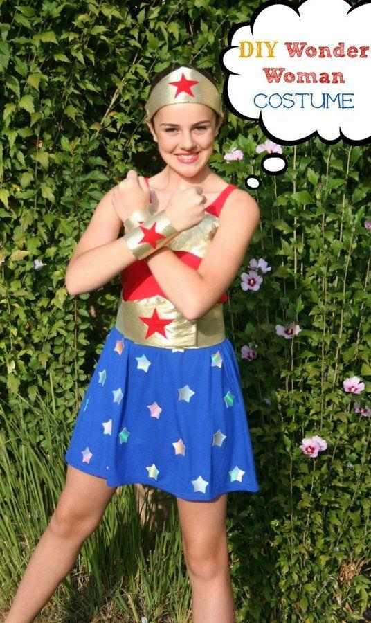 """<p>Don't know how to sew? This Wonder Woman option has you covered—you won't even need to stitch anything!</p><p><strong>Get the tutorial at <a href=""""https://sevenclowncircus.com/no-sew-wonder-woman-costume/"""" target=""""_blank"""">Seven Clown Circus</a>.</strong></p><p><strong><strong><strong><a class=""""body-btn-link"""" href=""""https://www.amazon.com/flic-flac-inches-Assorted-Fabric-Patchwork/dp/B01GCRXBVE/?tag=syn-yahoo-20&ascsubtag=%5Bartid%7C10050.g.21345654%5Bsrc%7Cyahoo-us"""" target=""""_blank"""">SHOP FELT</a></strong></strong><br></strong></p>"""