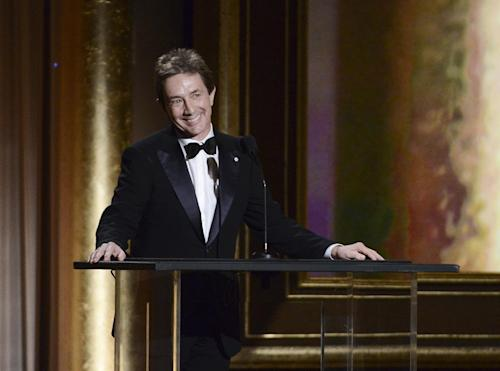 Actor Martin Short speaks at the 2013 Governors Awards on Saturday, Nov. 16, 2013 in Los Angeles. (Photo by Dan Steinberg/Invision/AP)