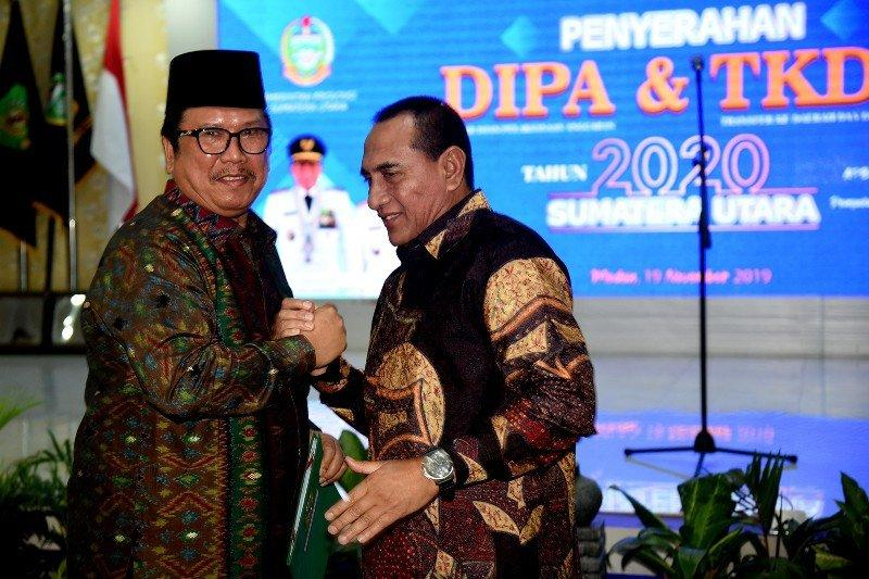 Gubernur Sumut minta tender proyek pembangunan fisik dipercepat