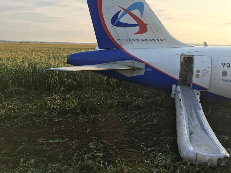 All 226 passengers and crew were reported to have evacuated the Russian aircraft. (Reuters)