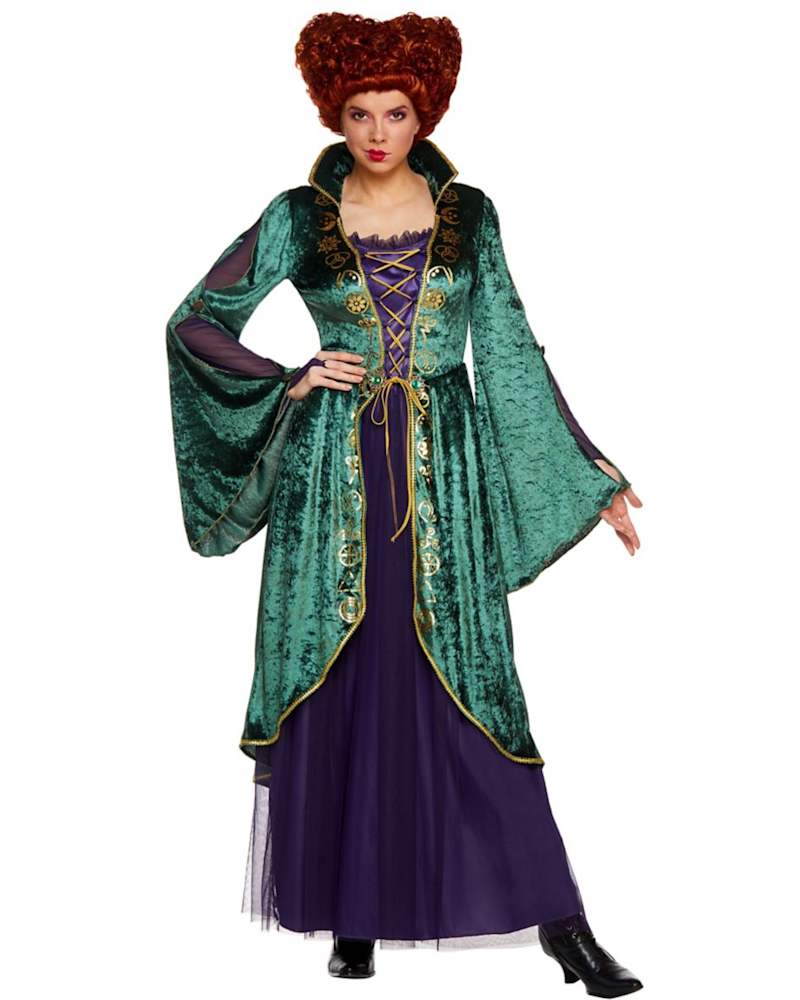 Winifred Sanderson Hocus Pocus costume. Image via Spirit Halloween.