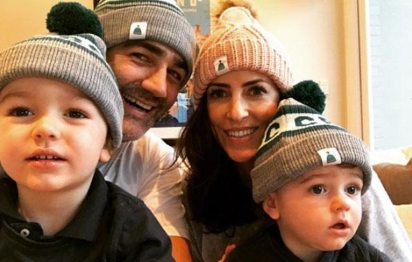 Wippa and wife Lisa share two sons Ted and Jack. Source: Instagram