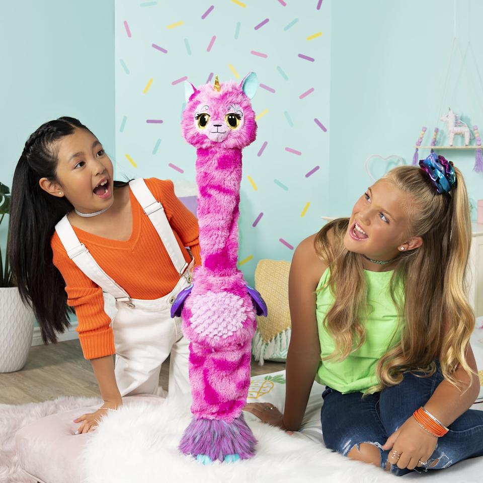 "<p>With the <a href=""https://www.popsugar.com/buy/Hatchimals-WOW-492163?p_name=Hatchimals%20WOW&retailer=walmart.com&pid=492163&price=60&evar1=moms%3Aus&evar9=46285065&evar98=https%3A%2F%2Fwww.popsugar.com%2Fphoto-gallery%2F46285065%2Fimage%2F46937459%2FHatchimals-WOW&list1=shopping%2Ctoys&prop13=api&pdata=1"" rel=""nofollow"" data-shoppable-link=""1"" target=""_blank"" class=""ga-track"" data-ga-category=""Related"" data-ga-label=""https://www.walmart.com/ip/Hatchimals-WOW-Llalacorn-32-Inch-Tall-Interactive-Hatchimal-with-Re-Hatchable-Egg-Styles-May-Vary/944184805"" data-ga-action=""In-Line Links"">Hatchimals WOW</a> ($60) kids can learn to hatch a Llalacorn that grows up to 32 inches tall.</p>"