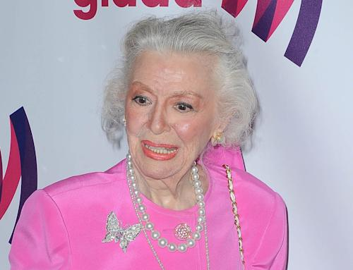 "FILE - This April 10, 2011 file photo shows actress Ann Rutherford at the 22nd Annual Glaad Media Awards in Los Angeles, Calif. Rutherford, who played Scarlett O'Hara's sister Carreen in the 1939 movie classic ""Gone With the Wind,"" died at her home in Beverly Hills, Calif. on Monday, June 11, 2012. She was 94. (AP Photo/Katy Winn, file)"