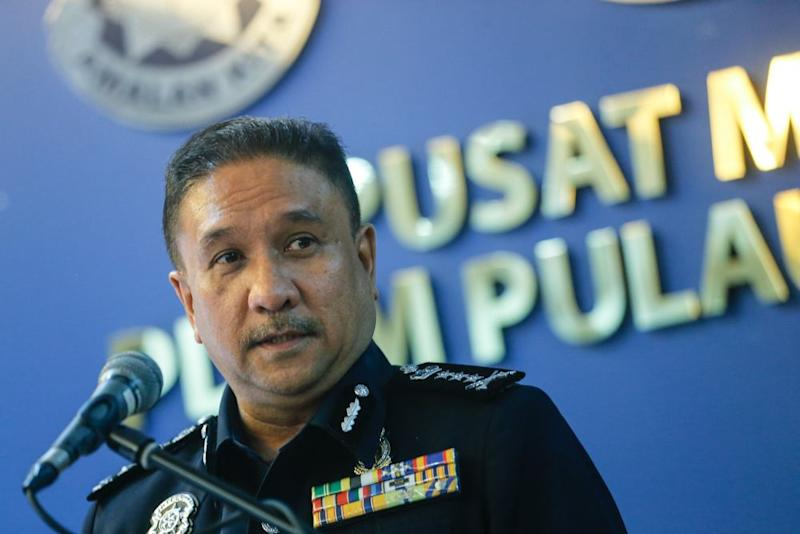 Penang Police Chief Comm Datuk Sahabudin Abd Manan speaks during a press conference in George Town March 27, 2020. ― Picture by Sayuti Zainudin