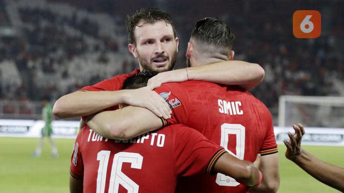 Pria asal Italia ini tampil gemilang dan mampu membawa Persija meraih kemenangan 3-2 saat menghadapi Borneo FC. (Bola.com/M Iqbal Ichsan)