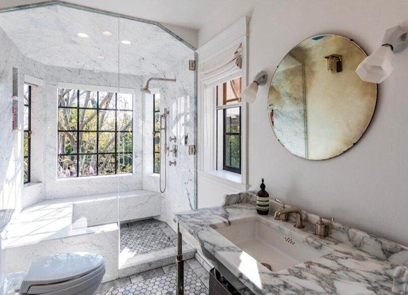 The luxury bathroom of the beverly hills mansion