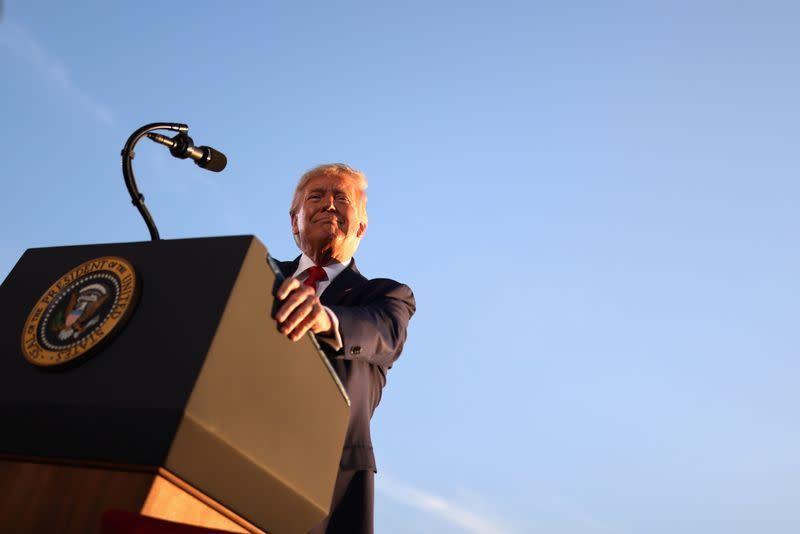 Trump menyebut pengunjuk rasa di Washington pada Kamis sebagai 'preman'